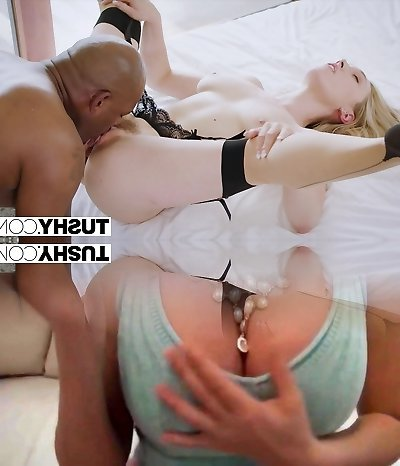 TUSHY Ample black cock stretches wifes pucker