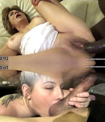 Grannie has sex with black dude and enjoys ass drilling