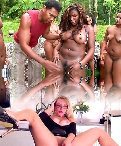 Best pornstars Sandra Bumbum and Bom Bom in hottest giant baps, brunette xxx clamp