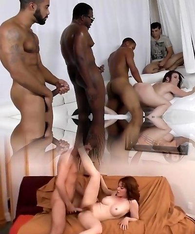 Sara Jay gets ganbanged by dark-hued guys