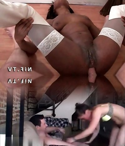 French black student hard double boned by 2 white dicks