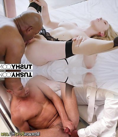 TUSHY Huge black cock stretches wifes pink hole