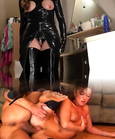 MILF black spandex and boots