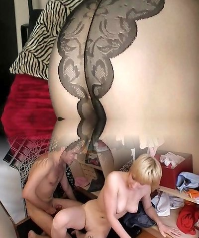 Check My MILF teasing cocks in sexy black stocking