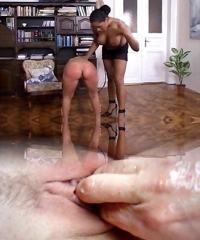 Spanked by ebony mistress