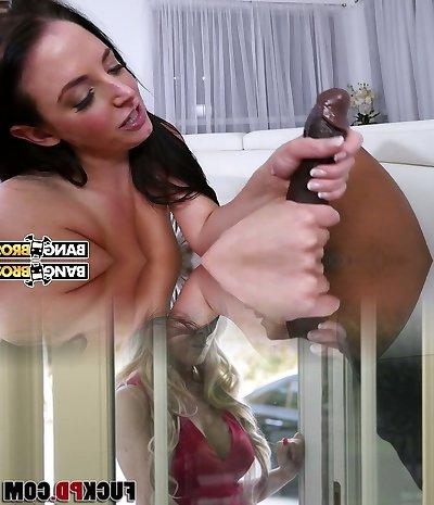 Bold Australian MILF Angela White takes massive black cock into pink pucker