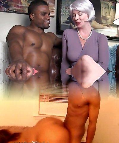 sexy milf entices black stud