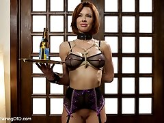 Veronica Avluv is a nymphomaniac anal loving squirting orgasm MILF. When put in a practical domestic setting, her pussy starts to twitch and her asshole dilates in anticipation of hard cock. Beautiful pouting lips wrap around thick cock as nipple clamps pull painfully, bouncing huge tits as she gags down gimp meat.Reverse cowgirl is the go-to position for slave training because it is BRUTAL. Avluv is strongest than she thinks, especially when stuffed with hard dick. Her pussy responds to the merciless pounding by spasming and squirting a quart all over the loft.MILF Avluv's final test for the day is pile-driver anal. Ass up and open, she is unbelievably sexy in this ass pounding pussy squirting scene.