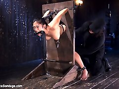 Mia arrives fresh and ready to go. We make final adjustments to the devices, and then strap her ass in. Today is going to be her reckoning, and it will come in the form of extreme suffering. First we have her bent over so that her slut holes can be utilized to their potential. Her nipples get the nasty treatment before her pussy is commanded to cum.Next we put her body on display, front side up and her limbs shackled to the table. Suction is used to torment and make her bits extremely sensitive. Her pussy is stuffed full of a massive dildo, a vibe pressing hard against her helpless clit, and locked into place to ensure she will orgasm as long as we see fit.In the final scene we have our helpless bondage slut folded in half. Her feet and pussy are exposed and will be punished. She is blindfolded and the torment begins. This time she can't see it coming, so the anticipation is her worst enemy.