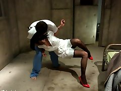 Nurse Asphyxia Noir gets ravished by mental patient James Deen in this erotic fantasy update!  This is one of the most sexiest and intense takedown scenes with amazing chemistry.  Witness Asphyxia in ecstasy while fucked mercilessly in hard bondage!
