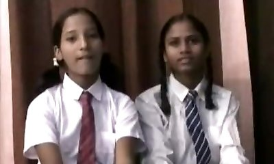 Real Indian College Gals In Uniform Strip Naked
