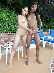 cute 18 year old black girl gets naughty