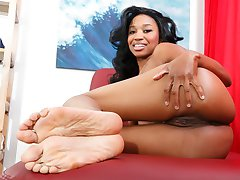 Jade picked the perfect day to stop in for a little tender loving care on the massage table! It seems her masseur Lee has a new technique to try on her: some intense foot action for Jade's size 10s! As a bonus, Lee throws in a little sole-slapping dick action and a generous amount of deep-dick vaginal penetration. Once Lee's finished with his around-the-world massage, he kindly leaves his own salty tip all over Jade's waiting feet!