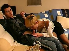 Bombshell and her lover multiply their pleasure by two in outrageous nylon game