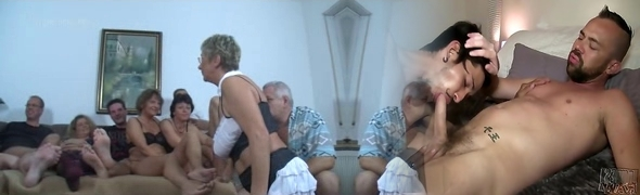 German Mature Swingers Drill Party