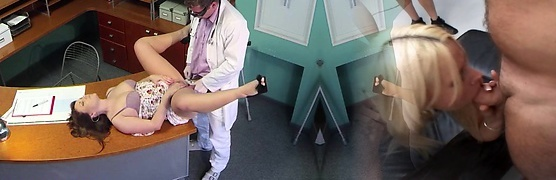 Hot Sabina gets torn up by her doc