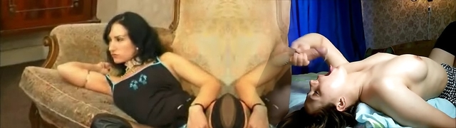 French goth Sonia Belgacem in rectal foursome with her friend