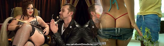 Mimosa & Will Havoc in Luxurious, Buxom Mimosa Dominates Submissive Pretty Guy - DivineBitches