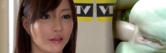 Mischievous Japanese model Kotone Kuroki in Incredible giant orbs, rimming JAV movie