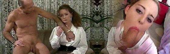 Hairy Helene Watches Porn