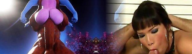 3D Female Superhero Destroyed by Demons!
