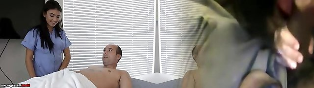 Horny Guys Cock Becomes Stiff & Thick During Massage