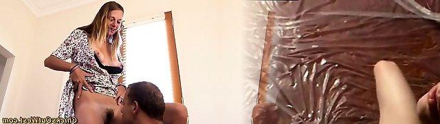 Aussie slit creampied