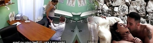 Doctor Humps Dirty Nympho milf while her husband waits outside