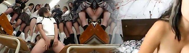 Hottest Japanese tart in Fabulous Gang Sex, Hairy JAV video