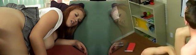 Incredible pornstar Sierra Skye in insatiable redhead, threesomes sex scene
