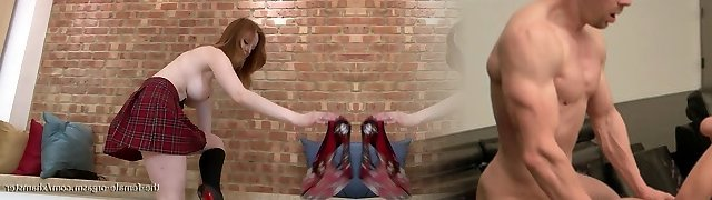 Sexy Firebush Redhead Jacks Clit to Twat Contractions