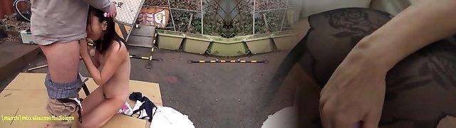 Haruki Karen Petite Jav Teen Fucked Outside At Abandoned Factory Pretty Student Gets Creampie