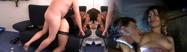 Crossdresser hand-job