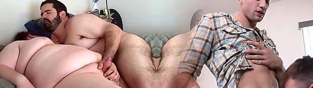 Lush bear fucks his slick chub boyfriend