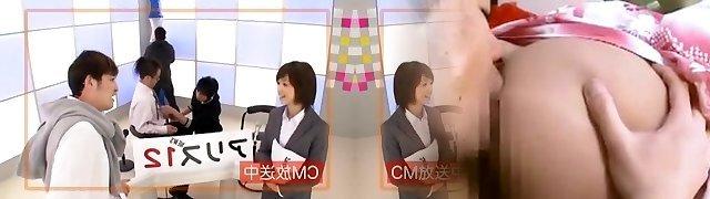 Horny Japanese chick Nanami Kawakami in Amazing Threesome JAV movie