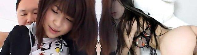 Amazing Chinese gal Minami Yoshizawa in Hottest Three-way, Close-up JAV movie