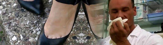 shoeplay in old school heels compilation