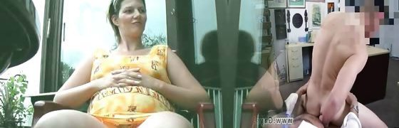 Chubby mom shaves her muff when husband part5