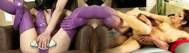 Chinese wearing latex mask gets taken to heaven DMvideos