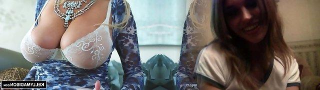 KELLY MADISON - Blue Lingerie Seduction