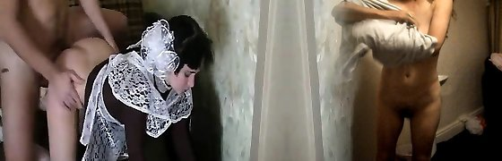 Innocent maid gets her mouth humped