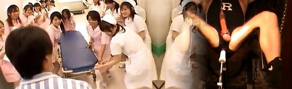 Asian nurses in a warm gangbang