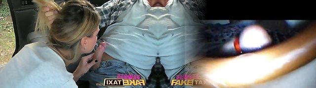 FemaleFakeTaxi Drivers taut body decorated in cum