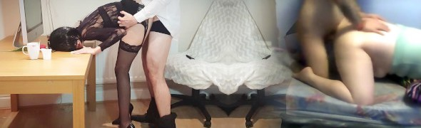 Exceptionally HOT and slutty secretary you can only dream would work for you!