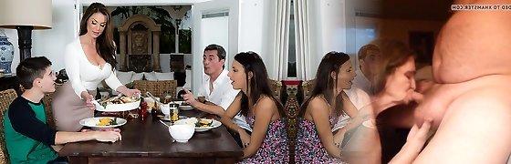Kendra Enthusiasm & Jordi El Nino Polla in Kendras Thanksgiving Sticking - Brazzers