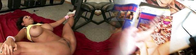Incredible Thai lady Priya Rai works out her exotic vulva