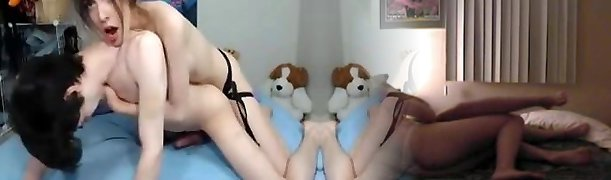 Attractive & Skinny Gf Strapon Romps Her Bf Live on Web Cam