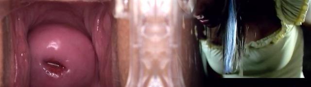 Uber-sexy czech model Leila gaping vagina