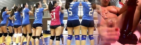 SWEETS backside SWEETS cameltoe on volleyball