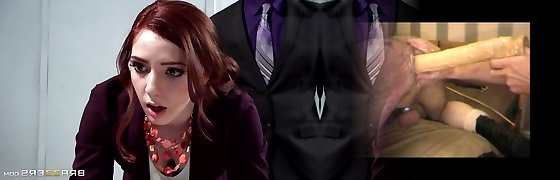 Crimson red-hot secretary Ember Stone punished by her boss